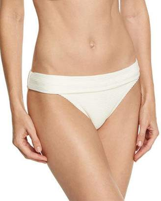 Heidi Klein Cote D' Azur Fold-Over Swim Bottom, White $125 thestylecure.com