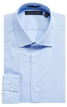 Tommy Hilfiger Printed Slim-Fit Dress Shirt
