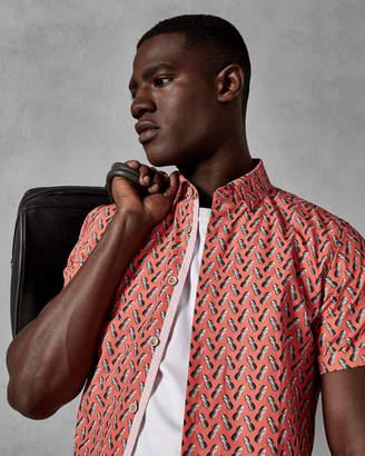 Ted Baker PINELES Pineapple print cotton shirt