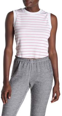 Wildfox Couture Keaton Simple Stripe Ribbed Cropped Tank Top