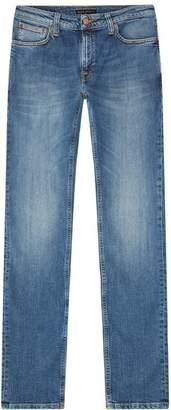 Nudie Jeans Skinny Indigo Faded Jeans