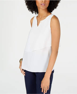 Thalia Sodi Hardware Tiered Sleeveless Top