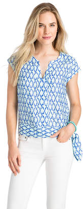 Vineyard Vines Lattice Print Side Tie Top