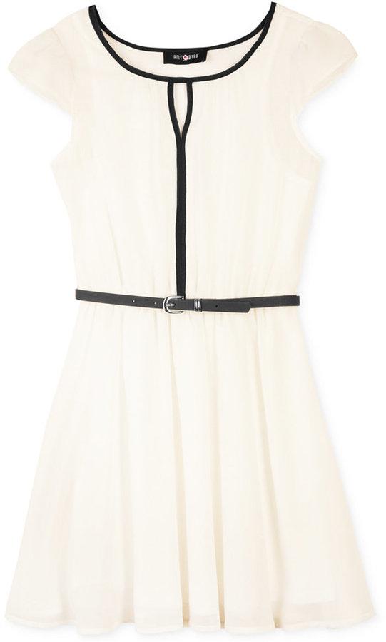 Amy Byer BCX Girls' A-Line Keyhole Dress
