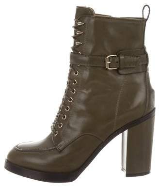 Givenchy Round-Toe Lace Up Boots