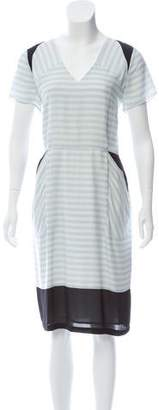 Band Of Outsiders Silk Striped Dress w/ Tags
