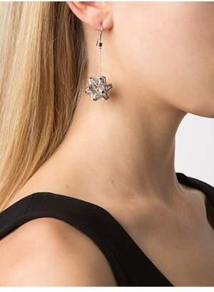John Brevard Frame Sapphire Dangle Silver Earrings
