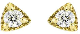 Bony Levy 18K Yellow Gold Triangle Diamond Stud Earrings - 0.07 ctw