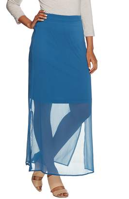 Halston H By H by Chiffon Maxi Skirt with Knit Lining