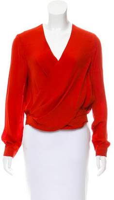 L'Agence Long Sleeve Silk Blouse w/ Tags