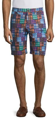 Robert Graham Flow Rider Patchwork-Print Shorts, Multi $168 thestylecure.com