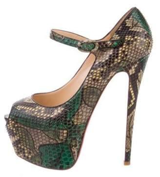 Christian Louboutin Python Lady Highness 160 Pumps Green Python Lady Highness 160 Pumps