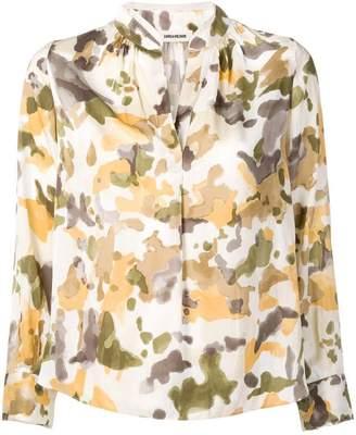 Zadig & Voltaire Zadig&Voltaire camouflage print shirt