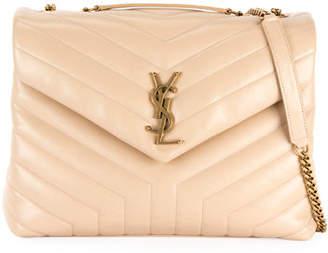 Saint Laurent Loulou Medium Monogram Y-Quilted Shoulder Bag - Golden Hardware