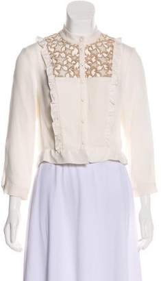 Fleur Du Mal Embroidered Silk Blouse w/ Tags