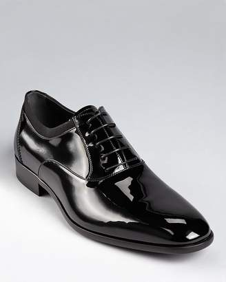 Salvatore Ferragamo Men's Aiden Patent Leather Tuxedo Oxford Shoes