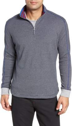 Robert Graham Kitson Classic Fit Stripe Quarter Zip Sweater