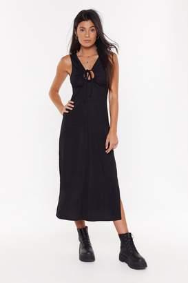 Nasty Gal Womens Open For Business Side Slit Midi Dress - Beige - 6, Beige