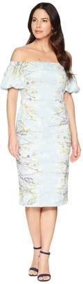 Maggy London Blossom Branch Cotton Sheath Dress Women's Dress