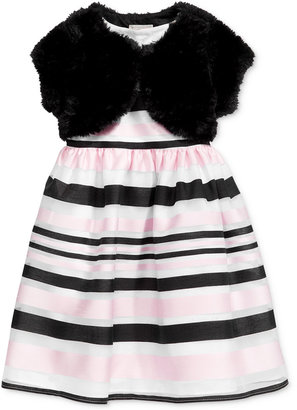 Marmellata Faux-Fur Shrug Special Occasion Dress, Toddler & Little Girls (2T-6X) $74 thestylecure.com