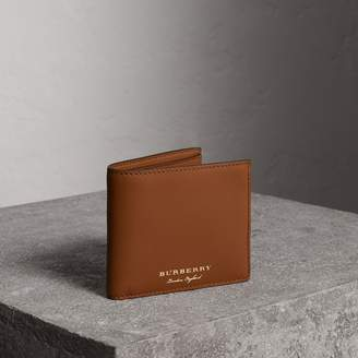 Burberry Trench Leather International Bifold Wallet