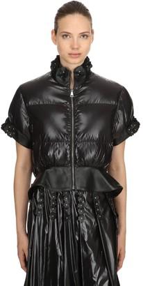 Moncler 6 Noir Crop Down Jacket
