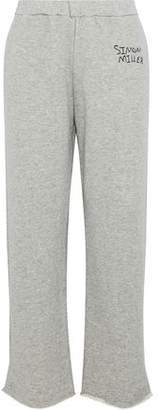 Simon Miller Mott Embroidered French Cotton-Terry Track Pants