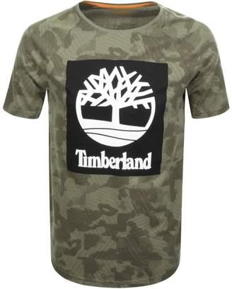 Timberland Logo T Shirt Khaki