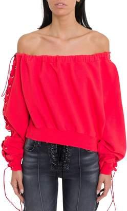 Taverniti So Ben Unravel Project Off-the-shoulder Sweatshirt