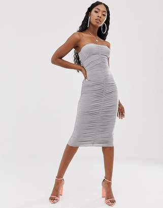 Public Desire bandeau bodycon midi dress