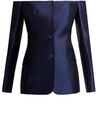 GABRIELA HEARST Dorothea off-the-shoulder silk-blend blazer
