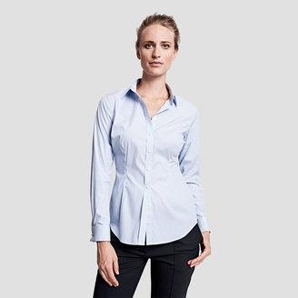 Sasha Stretch Stripe Double Cuff Shirt $165 thestylecure.com