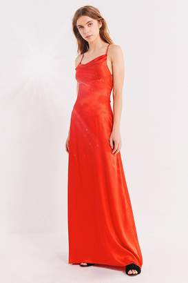 Urban Outfitters Cowl Neck Silk Maxi Dress