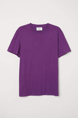 H&M Cotton and Silk T-shirt - Purple