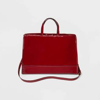 Who What Wear Shine Tote Handbag Red