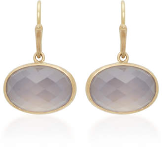 Annette Ferdinandsen 18K Gold Chalcedony Earrings