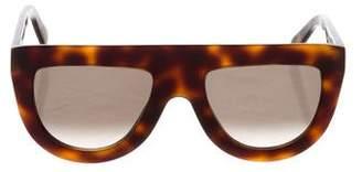 Celine Tortoiseshell Shadow Sunglasses