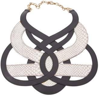 Bally Black Leather Necklace