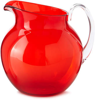 Mario Luca Giusti Palla Transparent Acrylic Pitcher, Red