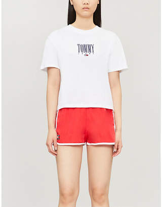 Tommy Jeans Logo-embroidered cotton-jersey T-shirt