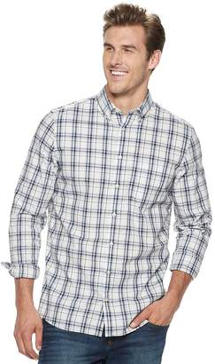 Sonoma Goods For Life Big & Tall SONOMA Goods for Life Flexwear Slim-Fit Poplin Button-Down Shirt