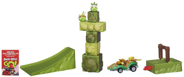 Hasbro Angry Birds Go! Jenga Tower Knockdown Game by