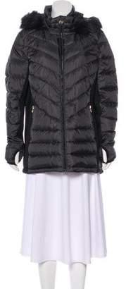 MICHAEL Michael Kors Faux Fur-Trimmed Down Jacket