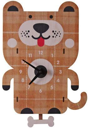 Modern Moose Dog Pendulum Wall Clock