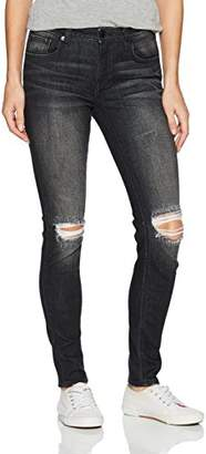 Miss Me Women's Gray Skinny Denim Jean with Front Distressing