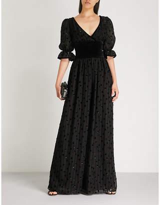 Valentino Polka dot chiffon and silk gown