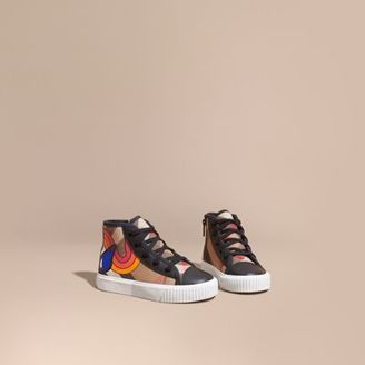 Burberry Printed House Check High-top Trainers $225 thestylecure.com