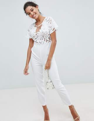 Love Triangle Lace Jumpsuit