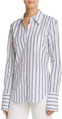 Theory Striped Button Down Shirt