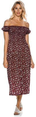 Swell Shirred Off The Shoulder Dress $64.95 thestylecure.com